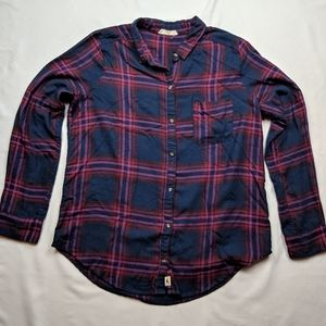 Hollister Plaid Flannel Top / Shirt